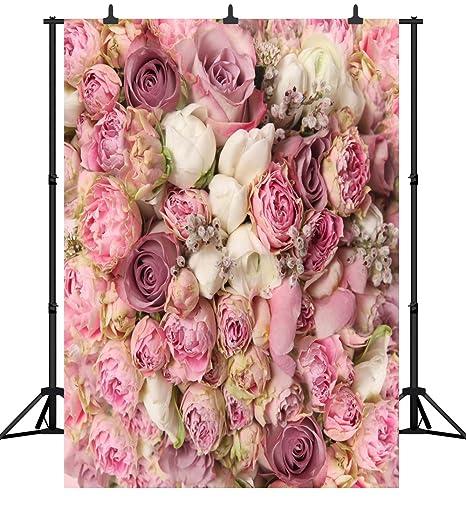 Dephoto 6x9ft 180x270cm San Valentino Fiori Senza Soluzione Di