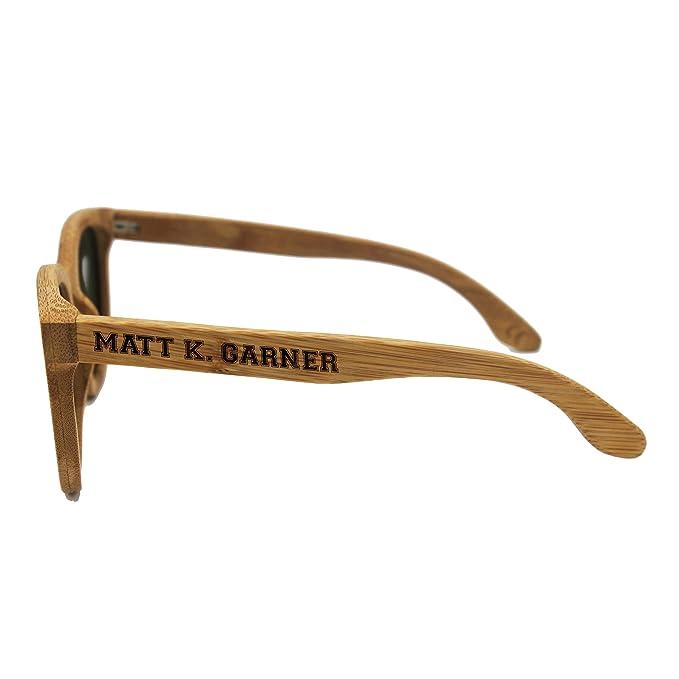 Amazon.com: Grabado personalizado madera anteojos de sol ...