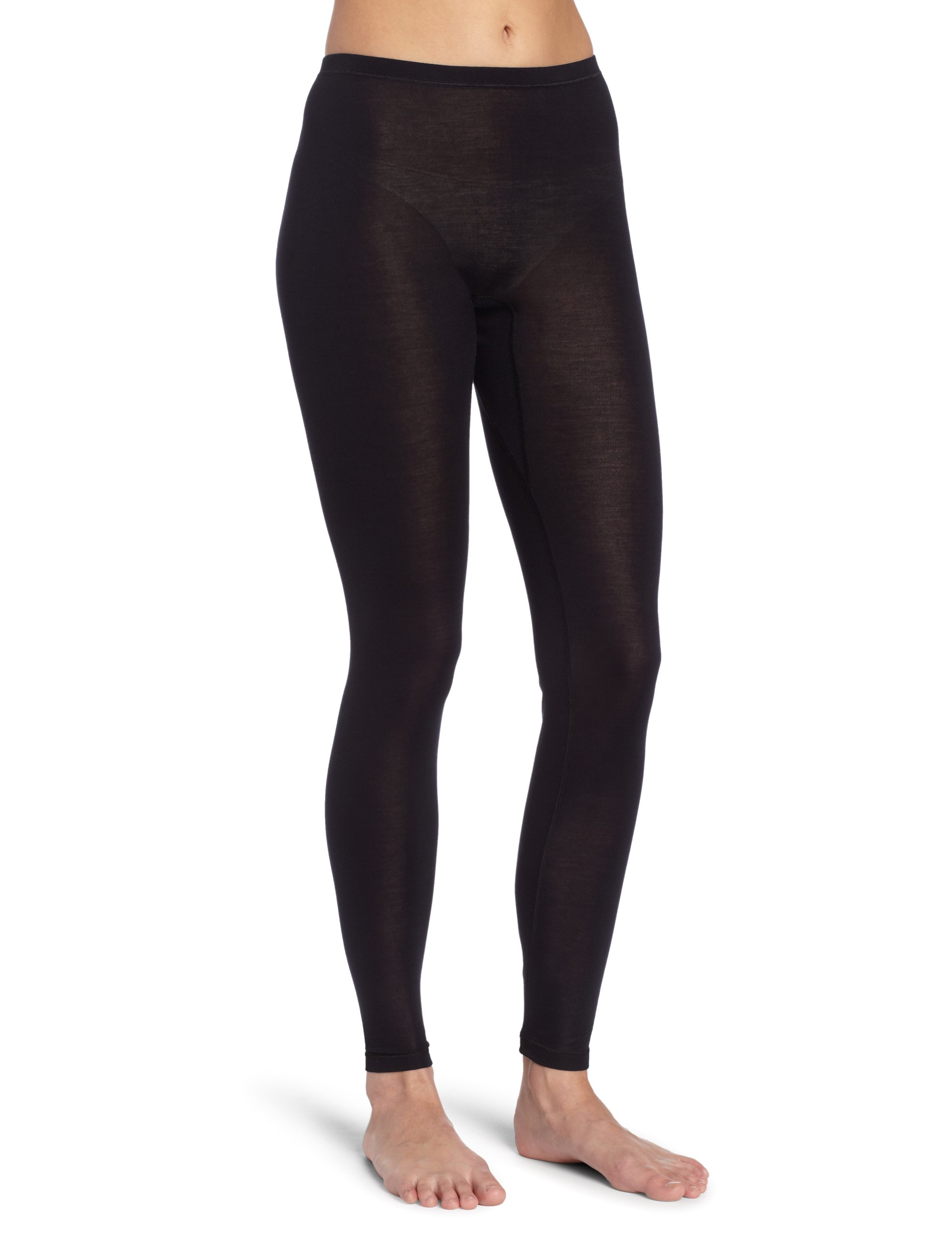 Hanro Women's Pure Silk Leggings, Black, X-Small