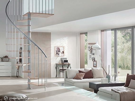 Intercon husoobject escaleras Flamenco de plata en 120/140/160 cm de diámetro de hasta 305 cm Altura de pisos: Amazon.es: Bricolaje y herramientas