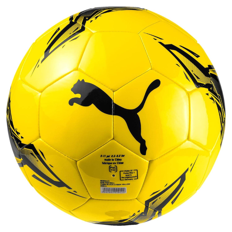 Puma BVB Fan Ball Ballon De Foot Mixte Adulte, Black-Cyber Yellow, 5 PUMGG|#Puma 83054