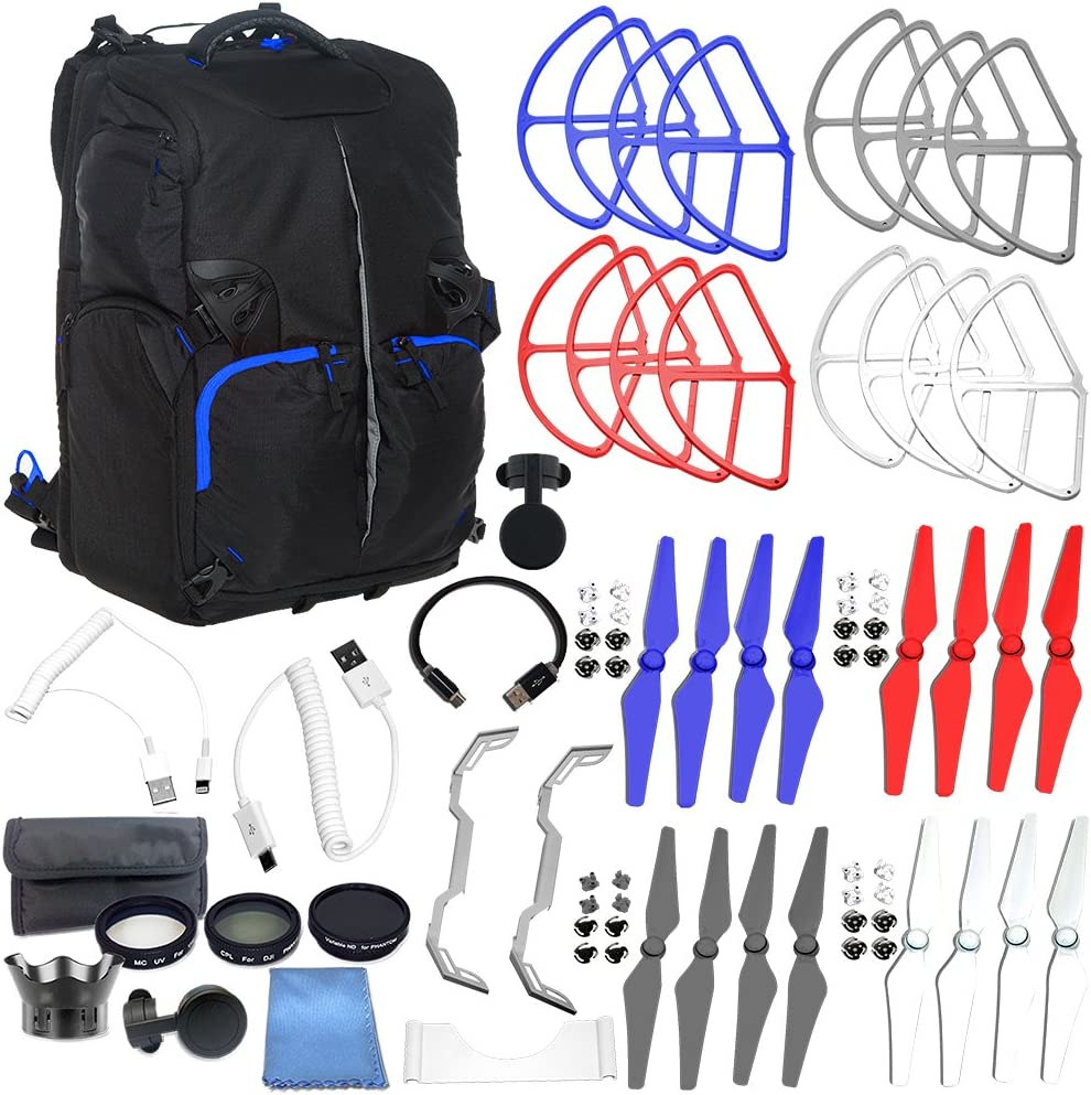 Includes 7 Piece Filter Kit + More SSE Accessory Bundle for DJI Phantom 4 UV + CPL + Variable ND2 to ND400 + Lens Hood + Case + Cloth