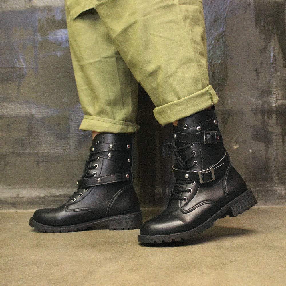 Botas Altas De Las SeñOras Hermosas Botas Planas De La Hebilla Plana De Las Mujeres De La Manera De La Moda Botas Zapatos De Martin De Cuero Ocasionales ...