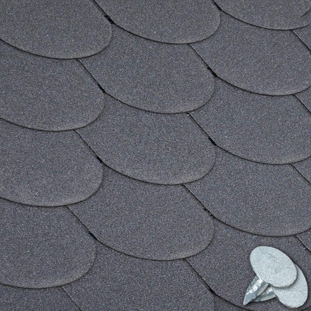 GroundMaster Green Roofing Felt Shingles Tiles Square Butt 4 Tab 2.61m/² Pack