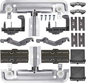Upgraded 20 PCS W10712395 Dishwasher Upper Rack Adjuster Metal Kit /& Compatible with kenmore whirlpool kitchen aid,Dishwasher Parts Replaces for W10250159 W10350375 AP5957560 W10712395VP