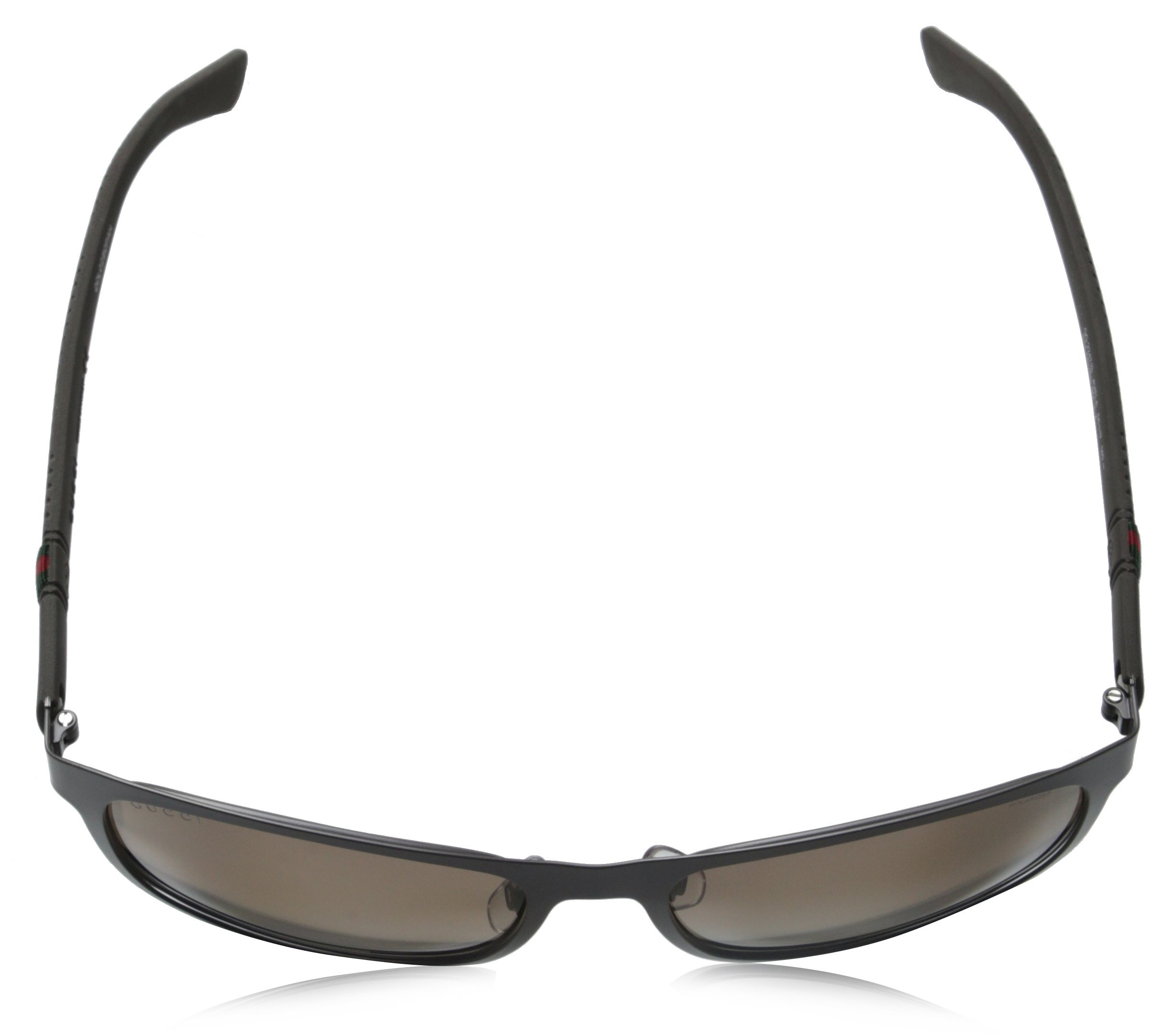Gucci Men's GG 2247/S Matte Grey/Brown Polarized by Gucci (Image #4)