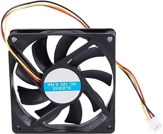Ogquaton 12 V 3 Pines CPU Ventilador disipador térmico disipador ...