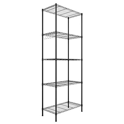 Wire Rack Shelving | Amazon Com Lantusi 5 Tier Wire Shelving Unit Adjustable Steel Wire