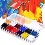 DE'LANCI Halloween Professionnel 12 Couleurs Peinture à Huile Maquillage Corporel Visage Oil Paintng