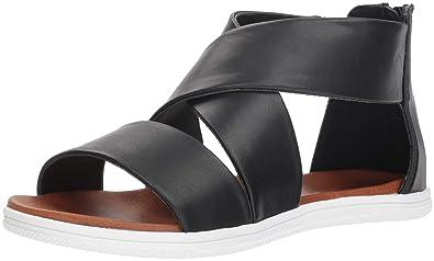 e5075f40f60 MIA Women s Deana Flat Sandal Black 10 M US