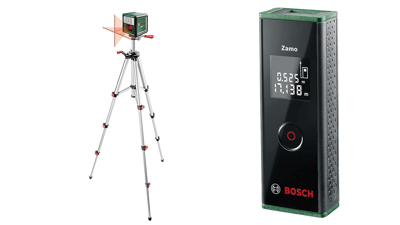 mit Stativ, Reichweite 7m, im Karton Bosch Kreuzlinien Laser Quigo Plus