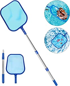 Molbory Pool Leaf Skimmer Net with Pole, Swimming Pool Leaf Skimmer Net with 47