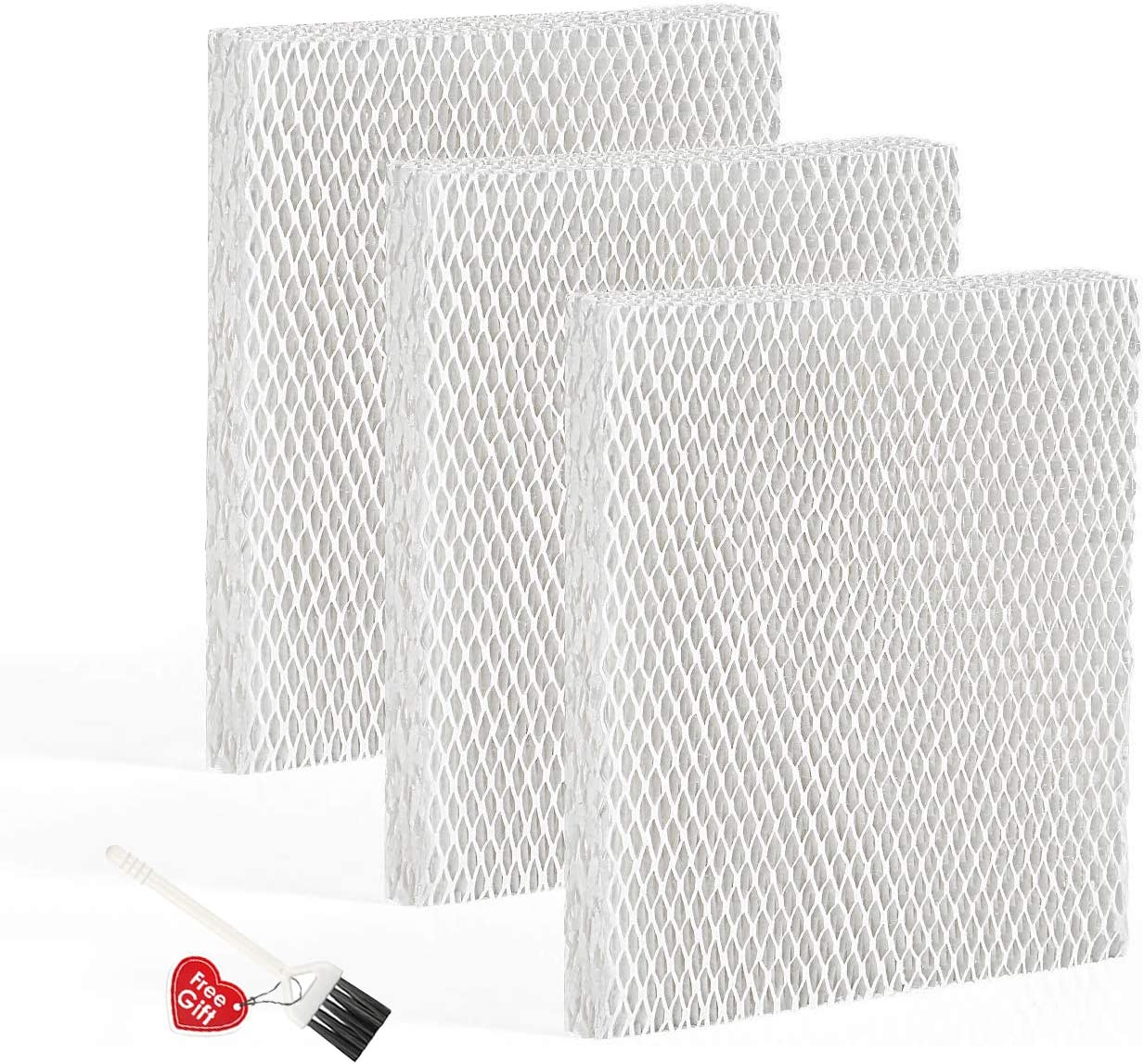 MXZONE Humidifier Replacement Filter T for Honeywell HEV615 and HEV620 Humidifier Wicks,Compatible with Part # HFT600 (3 Pack)