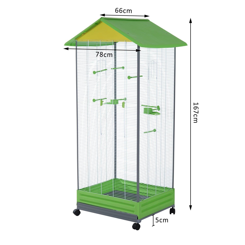 Pawhut grande Parrot jaula para pájaros funda para alimentación ...