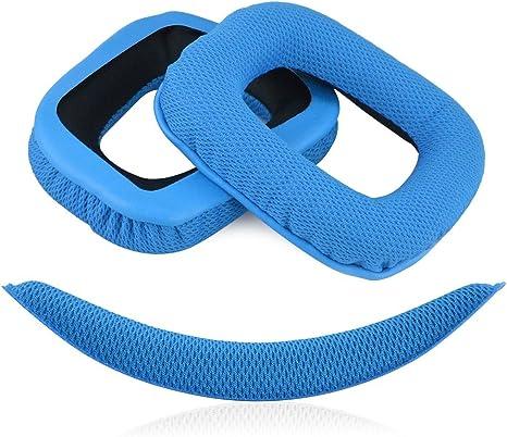 Replacement Ear Pads Earmuffs Headband Cushion for Logitech G430 G930 Headphones