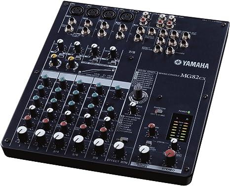 Yamaha MG82CX - Mesa de mezclas (8 canales), color negro: Amazon ...