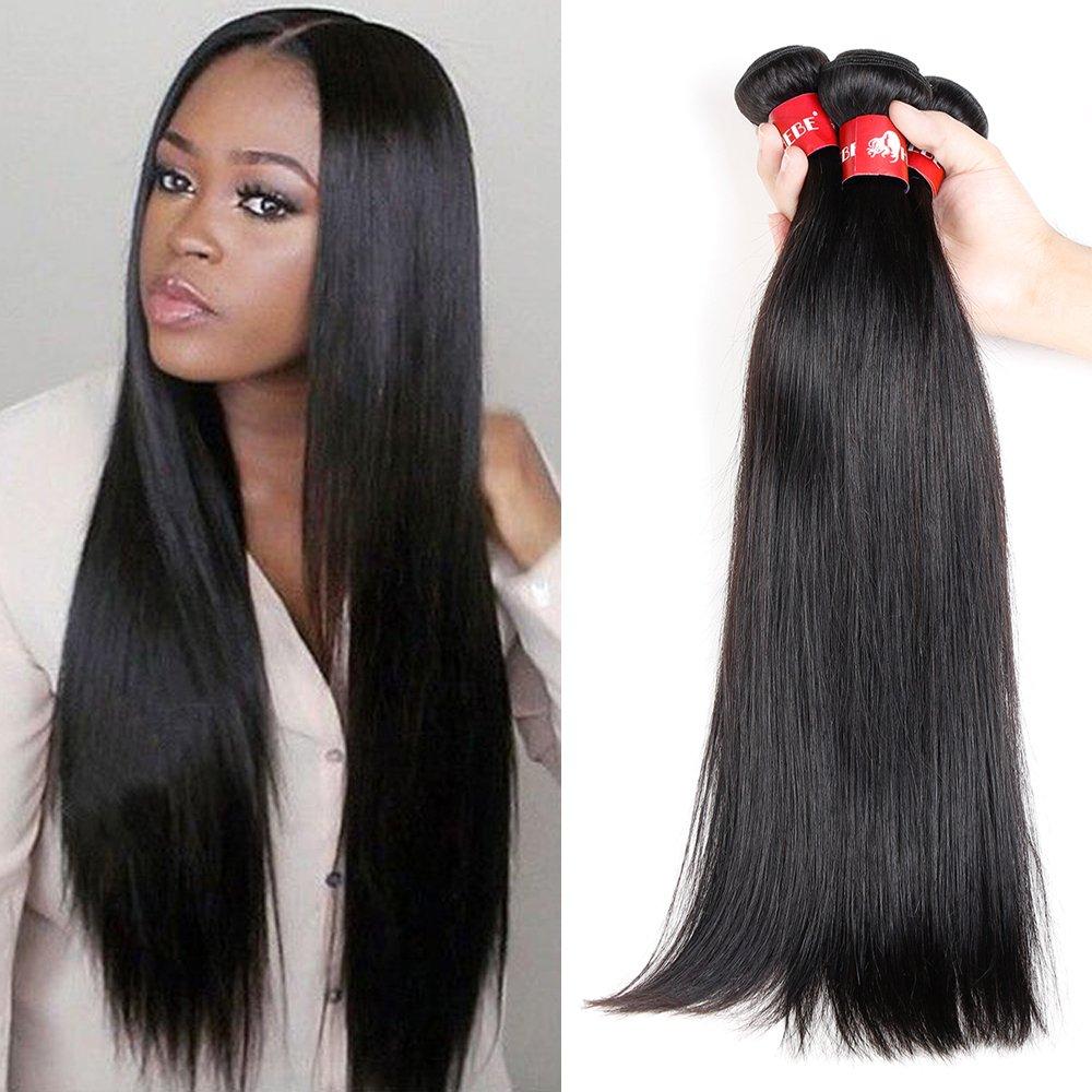 Amazon Hebe 8a Peruvian Virgin Hair Straight 4 Bundles 18 20