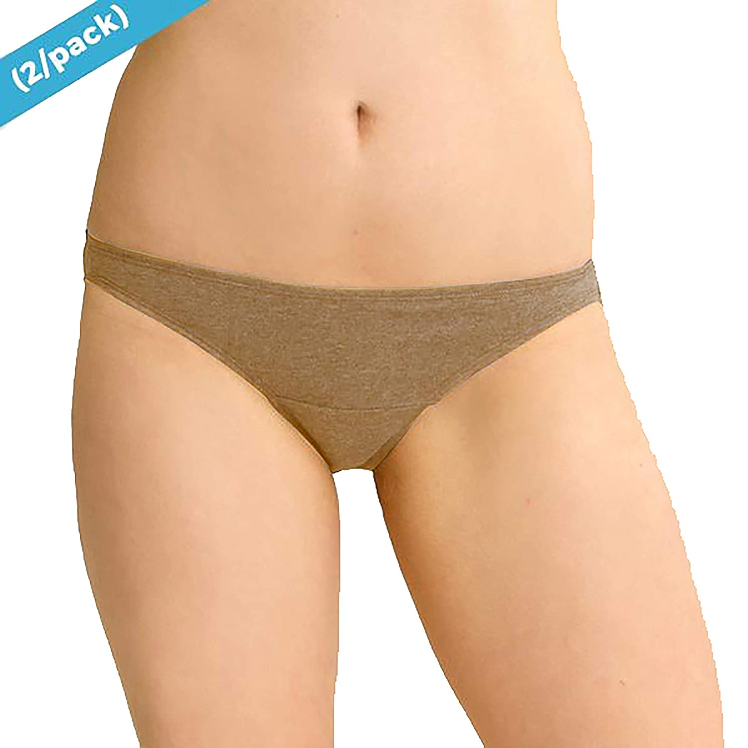 Cottonique Organic Cotton Bikini Brief Panty - 2 Pack (W22206)