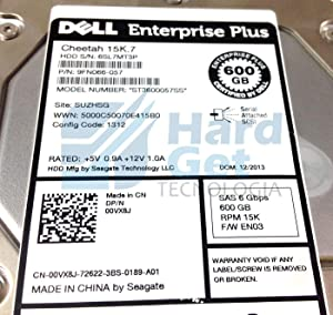Dell 0VX8J Hard Drive W EqualLogic PS4100 Tray SAS-6gbits 600GB-15000RPM EN00