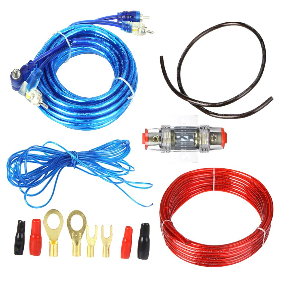 Boladge 1500W Car Audio Subwoofer Amplifier Wiring Kit Fuse Holders on