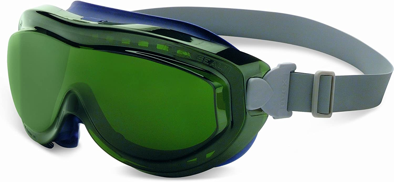 Neoprene Headband Clear Uvextreme Anti-Fog Lens Navy Body Uvex S3400X Flex Seal Safety Goggles