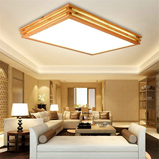 Exceptional Larsure Vintage Modern Style Ceiling Lights Led Bedroom Wood Ceiling Lamps  Light Wooden Study Lounge Light Wood Art Lights No 520 * 520mm Dimming  [Energy ...