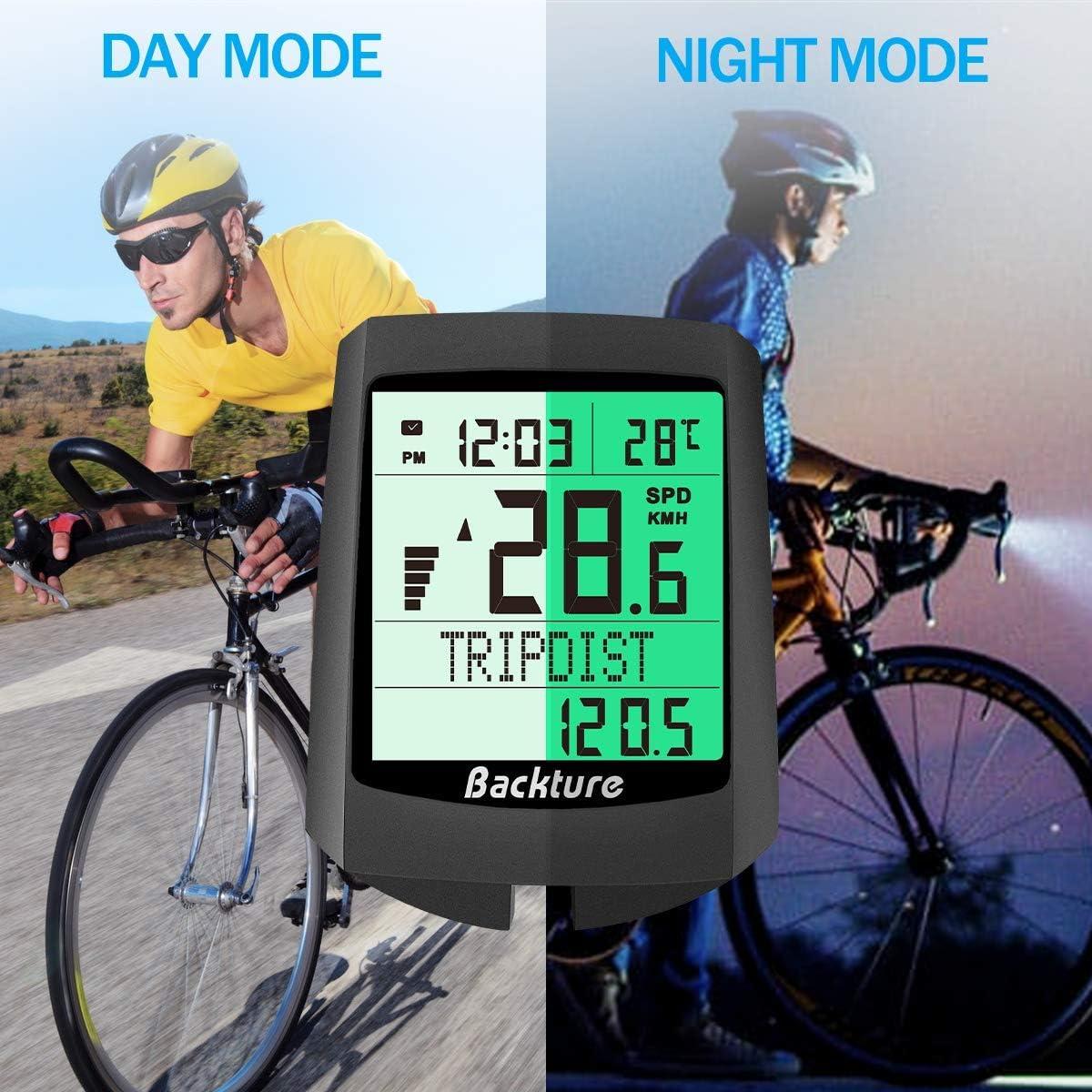 impermeable, inal/ámbrico, pantalla LCD, cuentakil/ómetros para ciclismo, distancia real de velocidad, color a Huayunxuan Ciclocomputador inal/ámbrico para bicicleta
