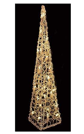 Weihnachtsdeko Beleuchtet.Led Pyramide 60 Cm 30 Led Warmweiß Leuchtkegel Aus Acryl Weihnachtsdeko Beleuchtet Licht Kegel