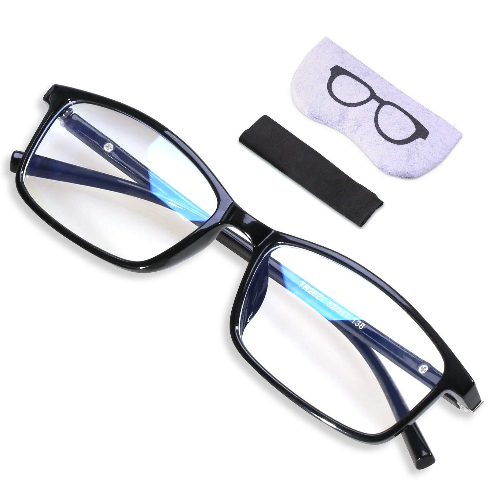 Blue Light Blocking Glasses for Women & Men, XVZ UV400 Computer Reading Glasses for Blocking UV Headache, Anti Eyestrain,Anti Glare Gaming Glasses with Transparent Lens