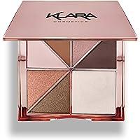 Klara Cosmetics Paris Eyeshadow Highlight Palette Rosegold Shimmer Glitter Sparkle Luxury Versatile Crease-free easy…