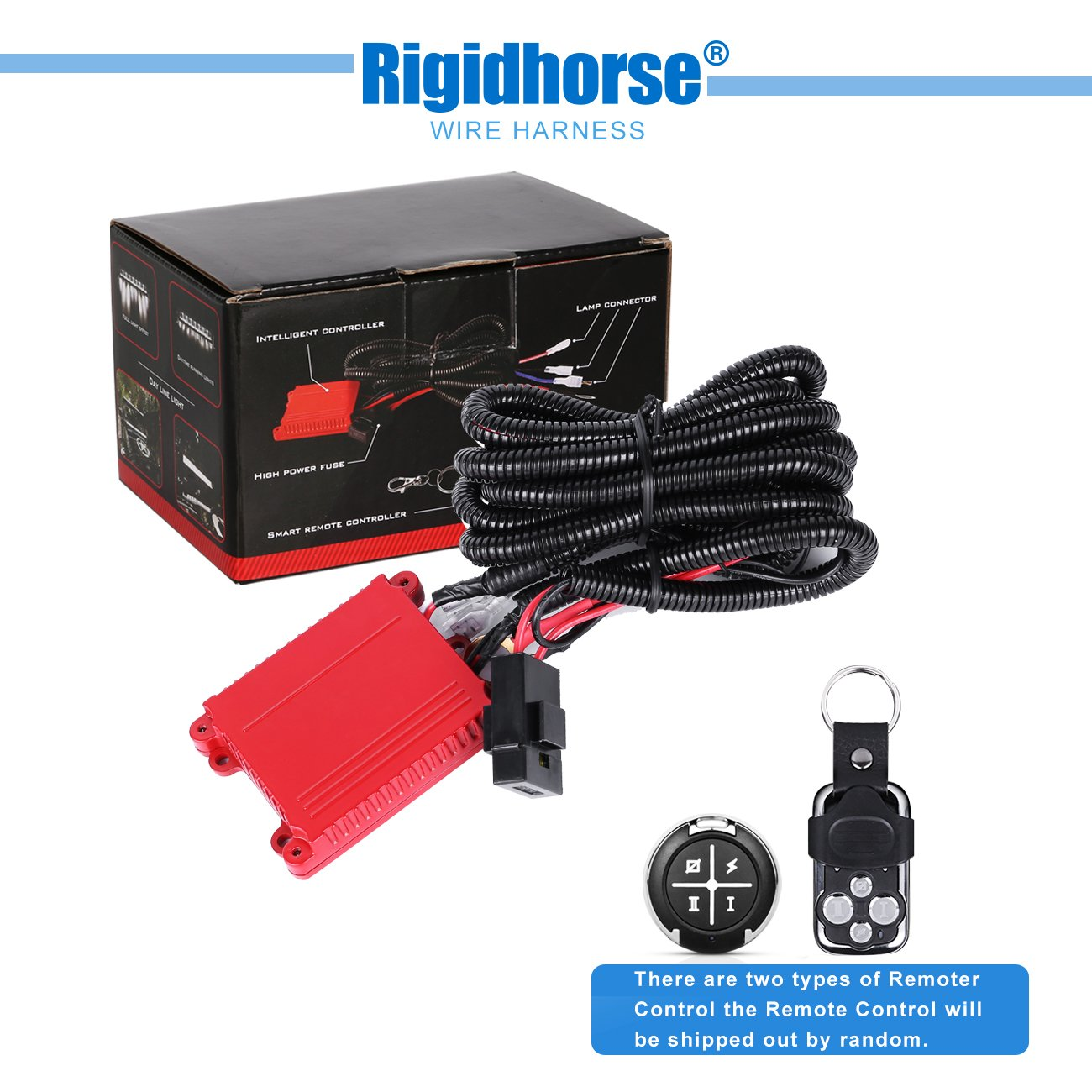 Wiring Harness Rigidhorse Remote Control 911 H4 Headlight Diagram Get Free Image About Kit For 8d Dual Mode Led Light Bar Universal Fitment Accessories Automotive
