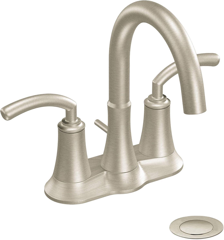 Moen s20bn Icon Zweigriff WC Wasserhahn mit Ablaufgarnitur ...