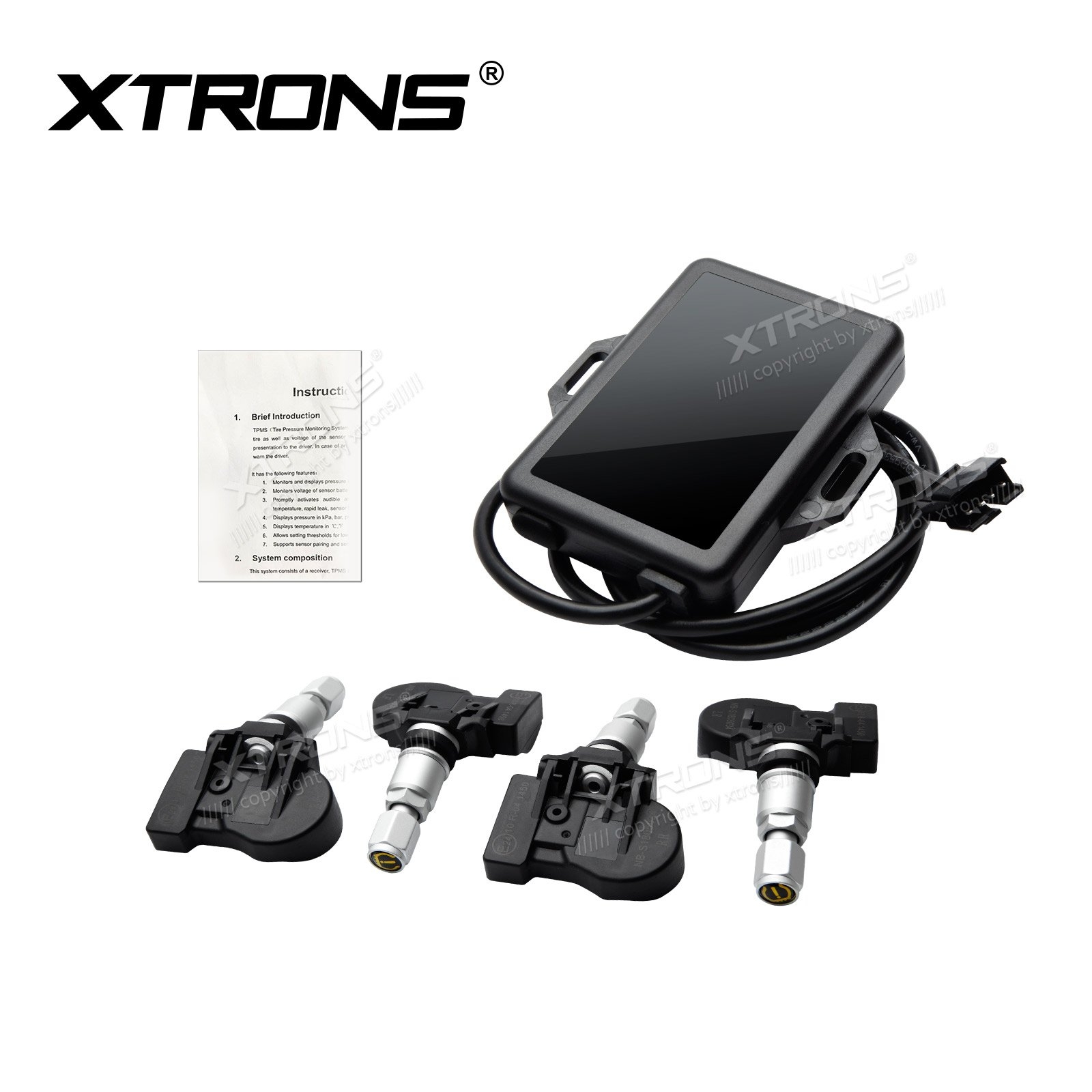 XTRONS Car Auto TPMS Tire Pressure Monitoring System for Android Units TE706PL TE103AP TR100