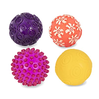 B. Toys – Oddballs - 4 Sensory Toy Balls in Warm Colors for Toddlers Aged 6 Months +: Toys & Games
