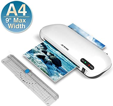 Hot /& Cold Laminating Machine 9 inch Max Width Rapid High Efficient Laminating Laminator Machine,Laminator Machine,JZBRAIN A4 laminator with Trimmer Two Minutes Fast Warm-Up