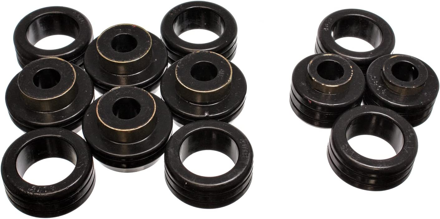 Black Polyurethane Energy Susp 4.4121G Body Mount Kit Direct Fit