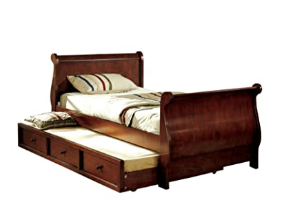 Amazoncom Furniture Of America Williamson Platform Sleigh Bed With