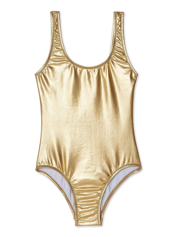 221db24532b33 Amazon.com: Stella Cove Big Girls Gold Metallic Shine Mermaid One Piece  Swimsuit 8-14: Clothing