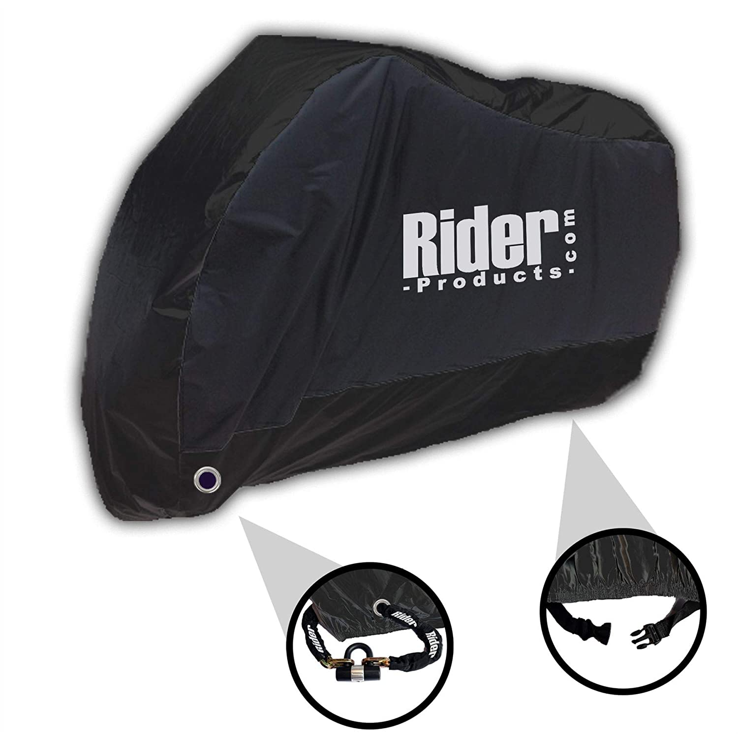 Wing Mirrors World YAMAHA NMAX 125 Rider Products Waterproof Motorcycle Cover Motorbike Black