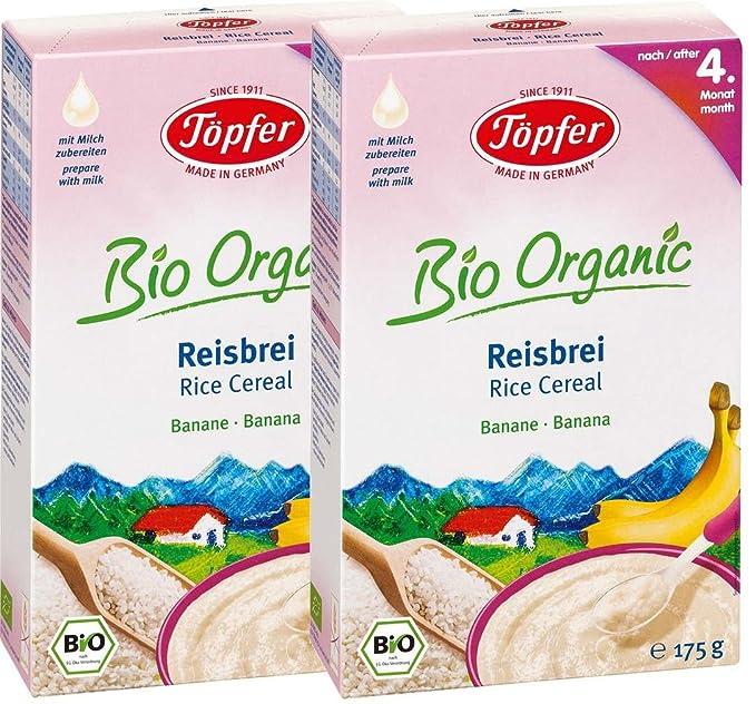 Töpfer Orgánica arroz con leche con plátano, 2-pack (2 x 175 g