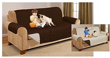 Protectores de sofá o diván, de Lujo, acolchado, Reversible, 2 ...
