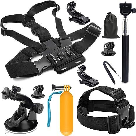 SHOOT Kit de Accesorios de Viaje al Aire Libre para GoPro Hero 8/7 ...