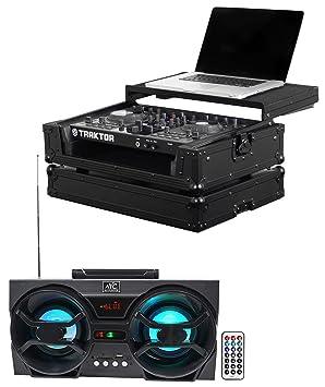 Odyssey fzgstks2bl ni Kontrol S2 negro etiqueta DJ Caso W/ordenador portátil estante + altavoz: Amazon.es: Instrumentos musicales