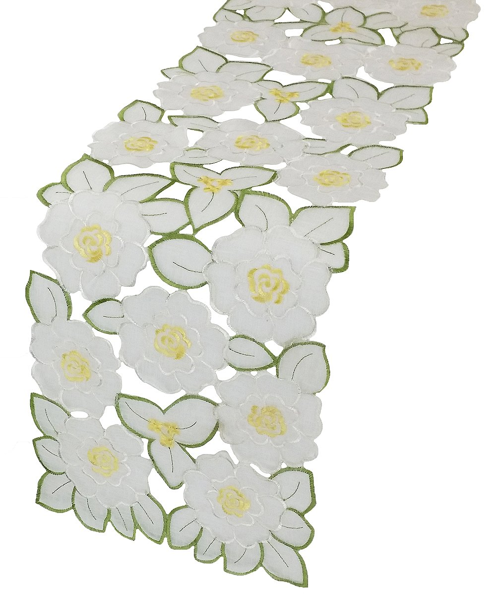 Xia Home Fashions 11 by 62-Inch Dainty Flowers Spring Table Runner, Mini
