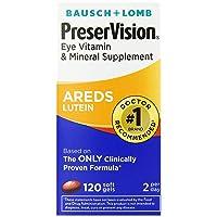 PreserVision AREDS Lutein Eye Vitamin & Mineral Supplement, Beta-Carotene Free,...