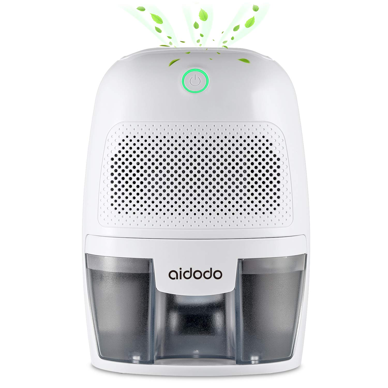 Dehumidifier Mini Electric 600ml, Portable Dehumidifiers Absorb Water 300ml / 24h, Automatic Shutdown,Ultra Quiet Air Cleaner for Home, Kitchen, Garage, Wardrobe, Basement