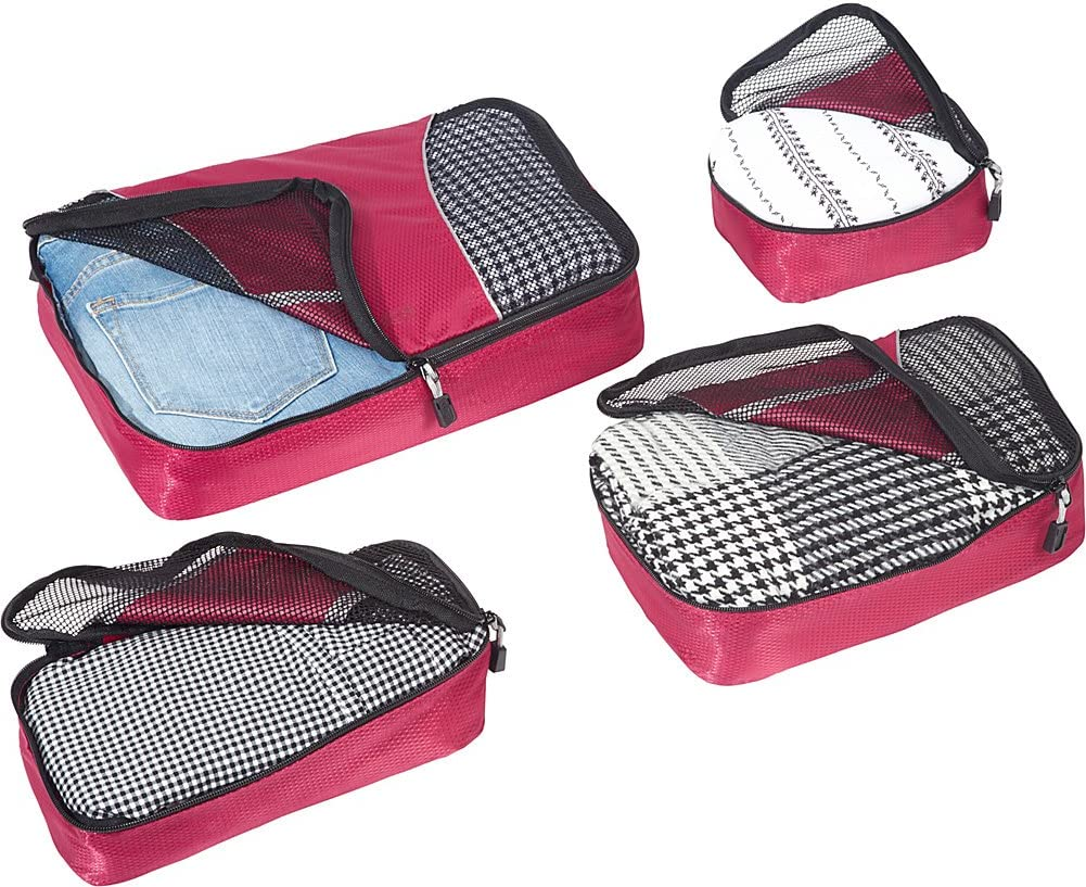 Black 4pc Small//Med Set eBags Packing Cubes