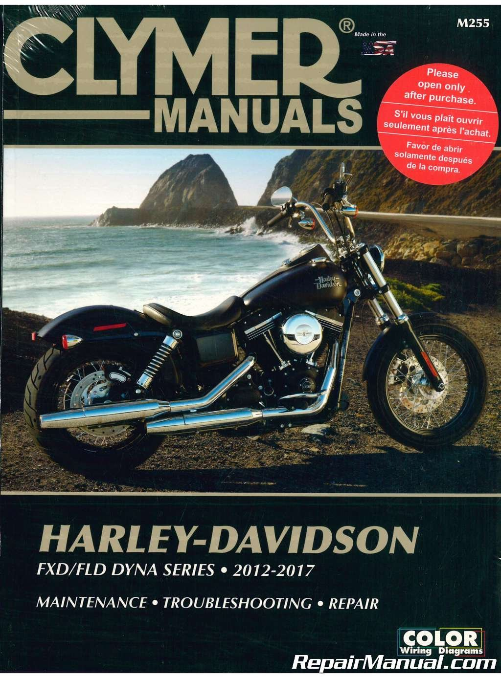 M255 Clymer Harley Davidson Fxd Fld Dyna Series 2012 2017 Motorcycle 2014 Fxdl Wiring Diagram Fuel Repair Manual Manufacturer Books
