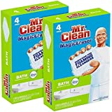 Mr. Clean Magic Eraser Bath Scrubber, 4Count (Pack of 2)
