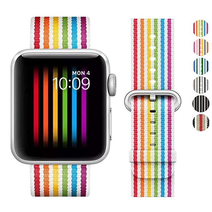DELELE Compatible para Apple Watch Band 38 mm 42 mm, Color ...